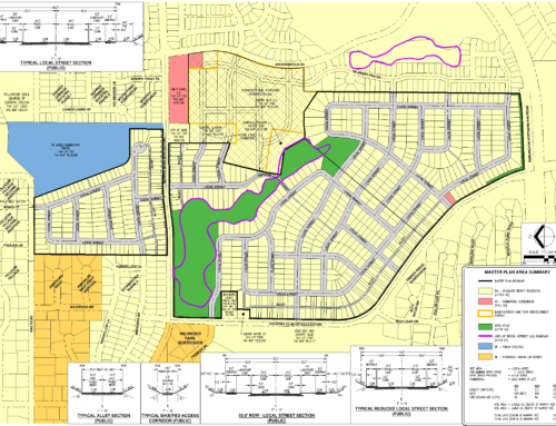 Master Plan for 795 homes on Murphy Road