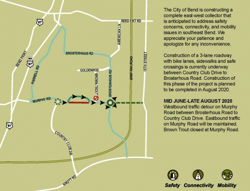 Temporary Detour on Murphy Road Starting June 11