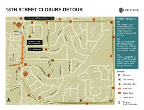 Full Closure of 15th Street Through July
